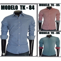Camisa Social Slim Fit De Luxo Tng Original Varios Modelos