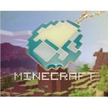 Colar Minecraft Gema Diamond Diamante A Pronta Entrega