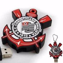 Pendrive Escudo Personalizado Futebol Corinthians 4 Gbpe