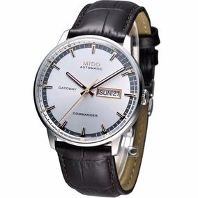 Relógio Mido Commander Automático Swiss Made Puseira Couro