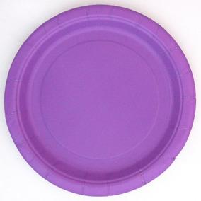 7 Postre Púrpura Placas De 24 Conde