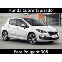 Funda Cubre Tapizado Cuero Tipo Buffalo Para Peugeot 308 Mkr