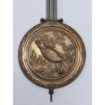 Original Pendulo Raro Gustav Becker Relógio De Parede Bird