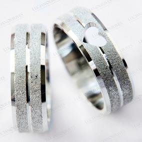 Par Aliança De Prata Diamantada Com Coração Vazado Ag-051d