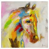 Quadro Pintura Cavalo Perfil Direito Fullway