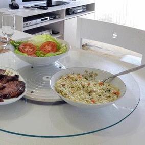 Tampo Giratório Prato Para Mesa De Jantar 60cm - Incolor