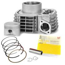 Kit Cilindro Motor Cg Titan 150 Pistao Anéis Pino Metal Leve