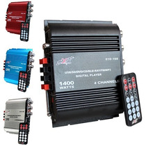 Amplificador Dxr 4 Canales 1400w Pmpo Radio Fm Y Usb