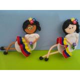Munequitas Con El Tricolor En Masa Flexible
