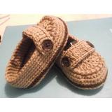 Zapatitos Para Bebe Tipo Mocasines Tejidos A Mano / Crochet
