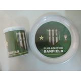 Banfield - Taza + Plato Plastico Doble Pared- Caballito Puan