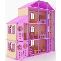 Casa Fantasia Para Muñecas Barbie Monster High En Madera Mdf