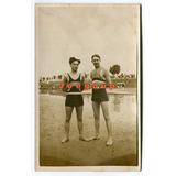Foto Postal Hombres En Traje De Baño Balneario Buenos Aires