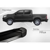 Estribo Toyota Hilux Dupla 2012 2013 2014 2015 Preto Eclipse