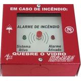 Botoeira Chave P/ Alarme De Incêndio C/ 2 Leds C/ Martelinho