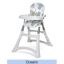 Cadeirão De Alimentação Para Bebê Premium Oceano Galzerano