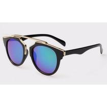 Óculos De Sol De Luxo Feminino So Real Espelhado Importado