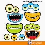 Kit Imprimible Ojos Y Bocas De Mounstros Imagenes Clipart