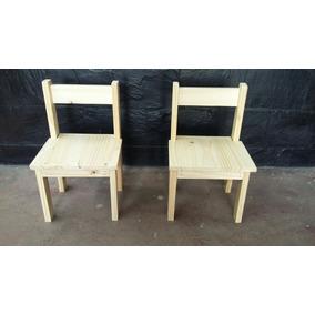 Mesas y sillas para ni os juguetes en mercado libre for Sillas economicas de madera