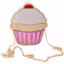 Bolsa De Hombro Para Mujer En Forma De Cupcake Panque M2209