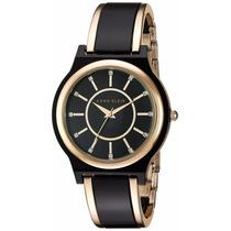 Reloj Anne Klein Ak2344bkgb Negro 100% Original Envío Gratis