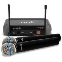 Microfone Sem Fio Duplo De Mão Lyco Vh202 Profissional Nf-e