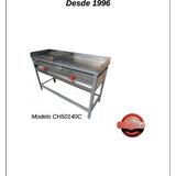 Churrasquera Plancha 50x140cm Certificada