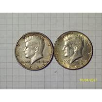 Estados Unidos 2 Monedas 1/2 Dólar Plata 1964 Y 1968 Lote