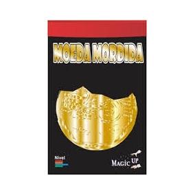 Mágica Moeda Mordida 25 Centavos Dourada