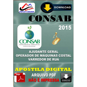 Apostila Digital Concurso Consab Operador Maquinas Costal