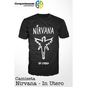 Camiseta Nirvana In Utero Rock Bandas Anos 90