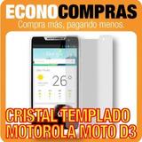 Mica Cristal Templado Para Motorola Moto D3 Nueva