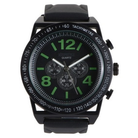 Reloj Negro Con Verde Aeropostale Para Caballero 100% Orig