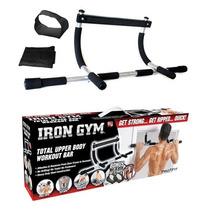 Iron Gym® Bara Gimnasio Puerta Musculos + Abrazaderas Straps