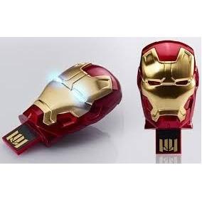Kit 4 Pen Drive Homem De Ferro 3 8gb Iron Man Frete Grátis