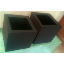 Macetas Fibra De Vidrio Cubo Minimalista