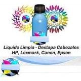 Liquido Limpia Cabezal Destapa Inyector Impresoras Hp Todas