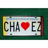 Placa Chavez Estampada Con Relieve Para Vehiculos (muestra)