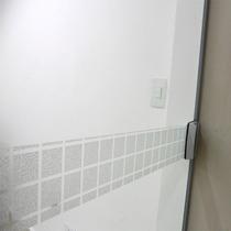 Faixa Adesivo Jateado P/ Portas De Vidro Quadra - 12x100cm