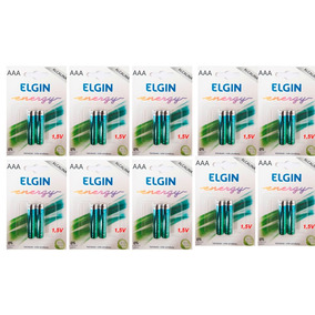 40 Pilhas Alcalinas Aaa Elgin Energy Lr3 1,5v ( Palito )
