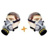 Kit 2 Mascaras Facial Simples Com Filtro De Pintura E Gases