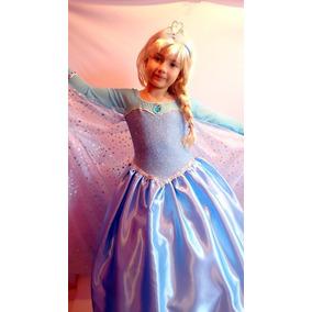 Vestido Disfraz Elsa Frozen Princesas Disney
