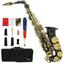 Saxofon Alto En Color Negro, Lade Con Accesorios Msi