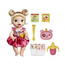 Boneca Baby Alive Hora De Comer Loira Com Acessórios Hasbro