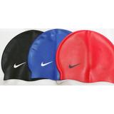 1 Touca Toca De Natação De Silicone Da Nike Original
