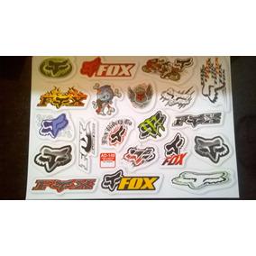 Kit 20 Adesivos Para Motos Capacetes Bicicletas Fox