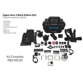 Gopro Hero 3 Black Edition (kit) Completa