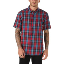 Camisa Vans Cuadros Skate Skateboarding Roja