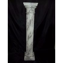 Columna De Yeso, Dorica , Patinado Imitación Mármol Negro