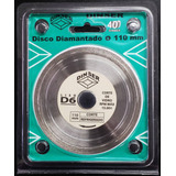 Disco Diamantado Ø 110 Mm Liso P/ Cortar Cristal